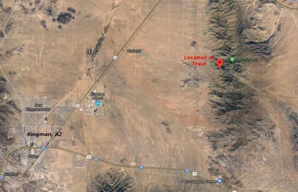 Location of Tract Relative to Kingman, AZ