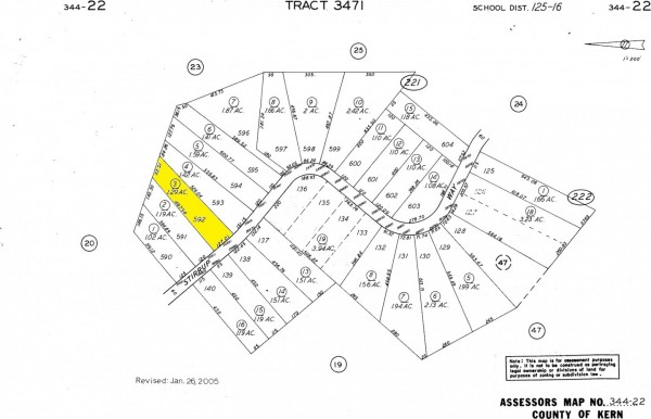 1.29 Acres for Sale in Tehachapi, CA