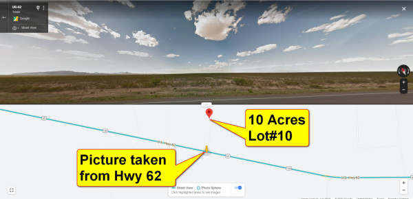 10 Acres for Sale in Salt Flat Near Dell City, TX