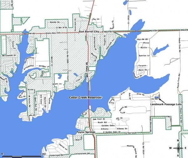 Landmark Passage Location Map