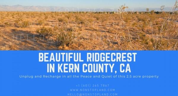 2.5 Acres for Sale in Ridgecrest, CA