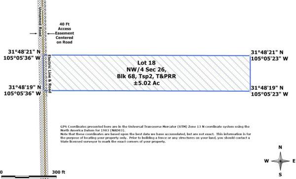 Lot 18 Plat Map