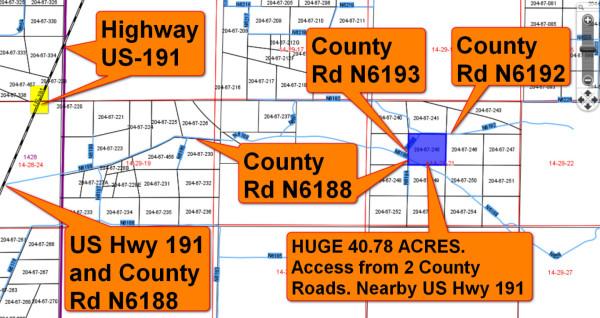 204-67-245 Apache 40.48 Acres plat map main