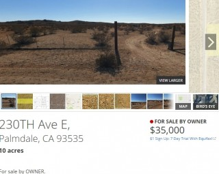 Land half the size in the area selling for $35,000!