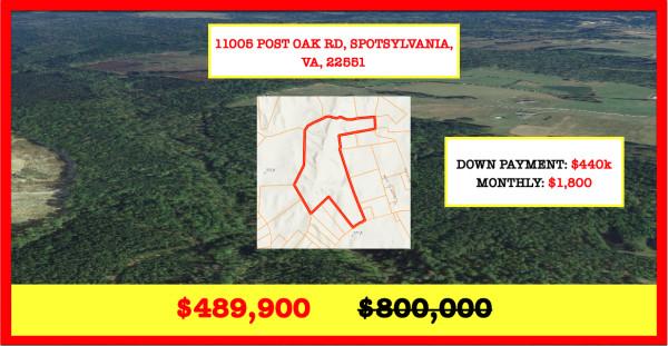109.76 Acres for Sale in Spotsylvania Courthouse, VA