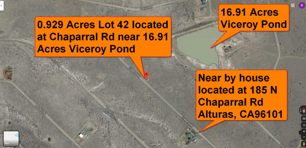 Aerial map of Lot 42 and near by home on same road