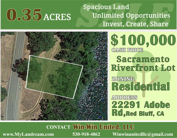 0.35 Acres for Sale in Red Bluff, CA