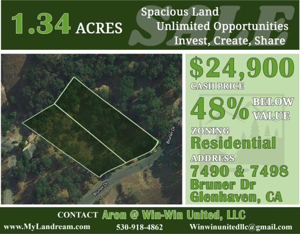 1.34 Acres for Sale in Glenhaven, CA