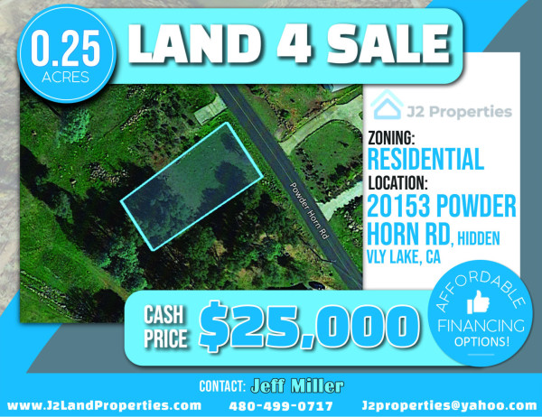 25 Acres for Sale in Hidden Valley Lake, CA