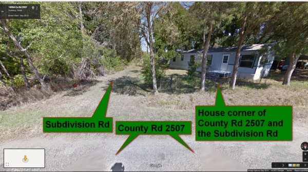 Subdivision Private Rd 6903 & Neighbor house