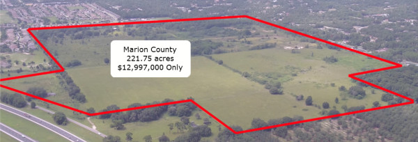 221.75 Acres for Sale in Ocala, FL