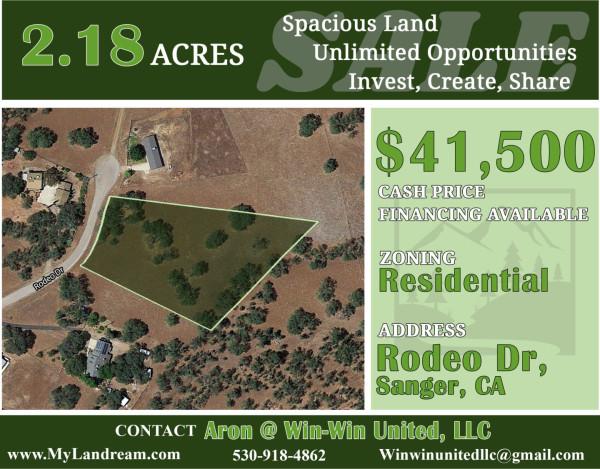 2.18 Acres for Sale in Sanger, CA