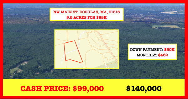9.51 Acres for Sale in Douglas, MA