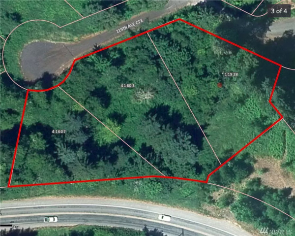 aerial view with property lines indicated