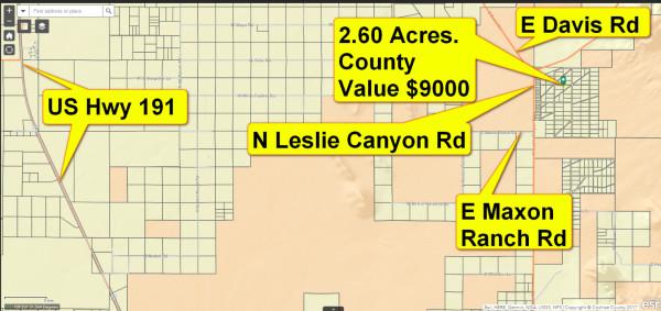 2.6 Acres for Sale in Douglas, AZ