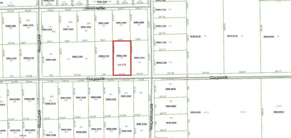 Lot 176 Plat map