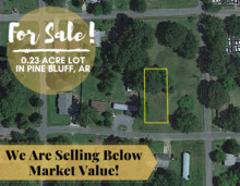 0.23 Acres for Sale in Pine Bluff, AR