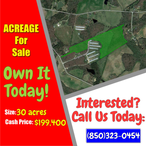 30 Acres for Sale in Monroe, NC