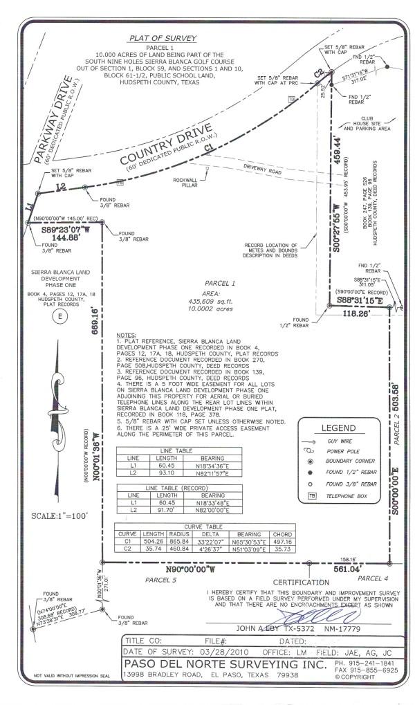 Survey Map of Parcel 1