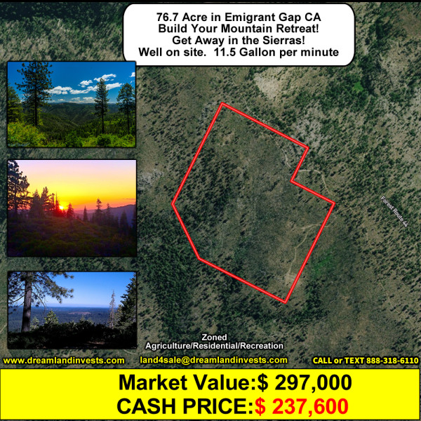 76 Acres for Sale in Foresthill, CA