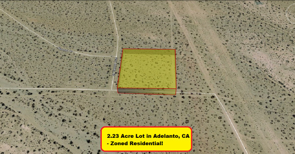 2.2 Acres for Sale in Adelanto, CA