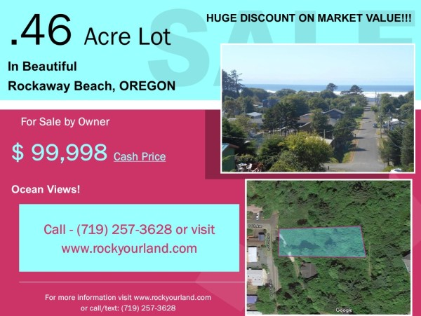 0.46 Acres for Sale in Rockaway Beach, OR