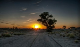 Fantastic desert sunsets and natural beauty