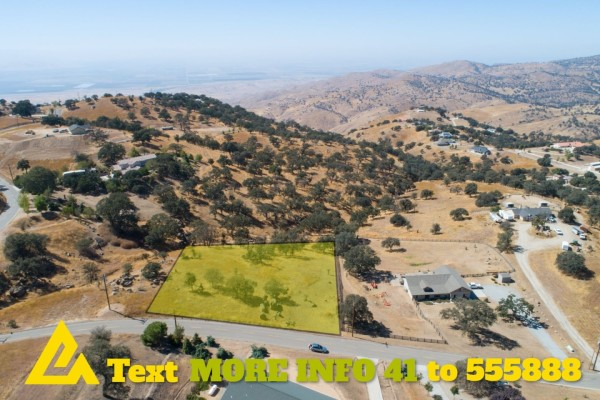 1.72 Acres for Sale in Tehachapi, CA