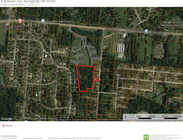 7.5 Acres for Sale in Springfield, OH