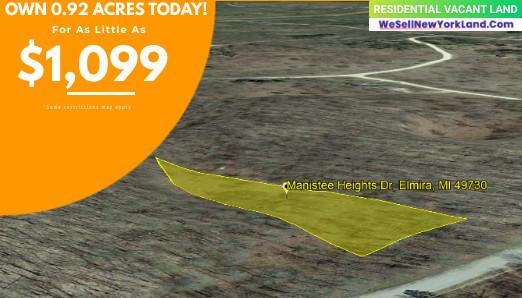 0.92 Acres for Sale in Elmira, MI