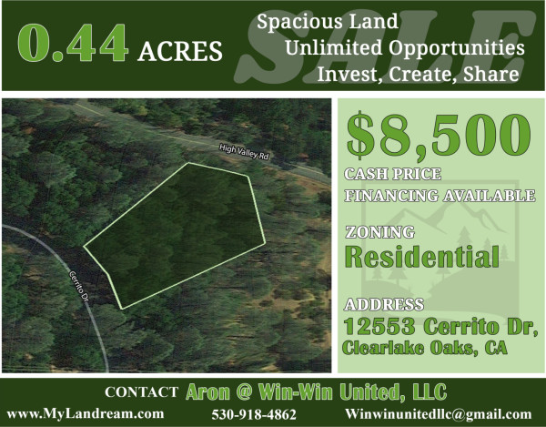 0.44 Acres for Sale in Clearlake Oaks, CA