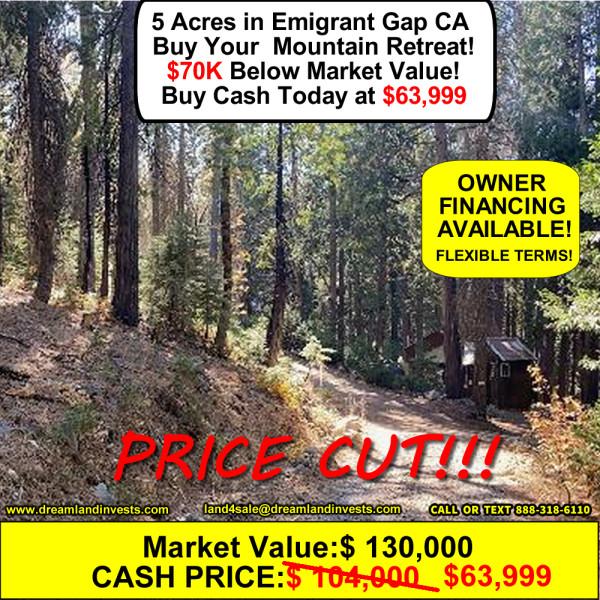 5 Acres for Sale in Emigrant Gap, CA