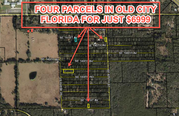 4 Lots for Sale in Old Town, FL