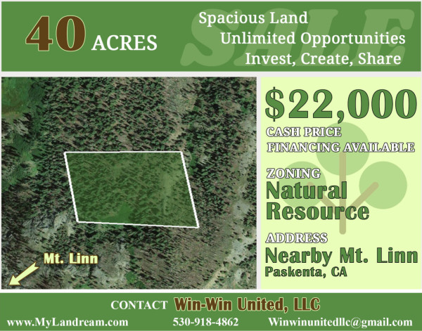 40 Acres for Sale in Red Bluff, CA