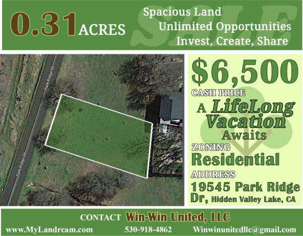 0.31 Acres for Sale in Hidden Valley Lake, CA