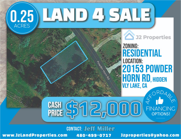 0.25 Acres for Sale in Hidden Valley Lake, CA