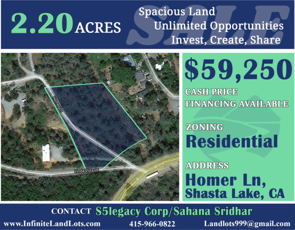 2.2 Acres for Sale in Shasta Lake, CA